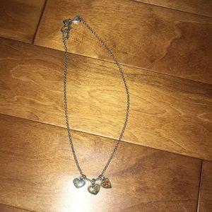 Brighton silver heart chain necklace